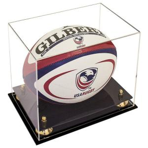 China top grade customized design acrylic rugby ball display box for all kinds of balls on sale