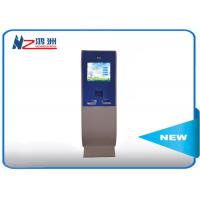 Touch screen lobby dual screen free standing kiosk with A4 Printer