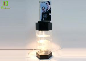 China Sunglasses Acrylic POS Display Stand , Acrylic Display Case With LED System on sale