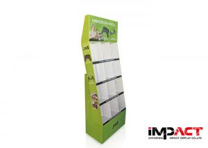 China Corrugated Free Standing Cardboard Displays 12 Pockets For Game Machine on sale