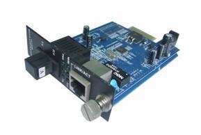 China 1 fiber +1 rj45 port 10 100mbps inner card of fiber  ethernet media converter on sale