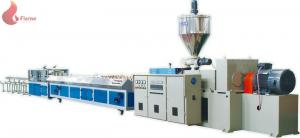 China Multi hole cable duct PVC profile production line with Haul off Vacuum Calibration Table on sale