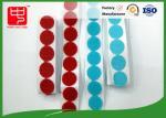 Rouge/résistant à la chaleur adhésif fort de découpage bleu de pièces de monnaie de crochet et de boucle