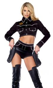 China Shoot 'Em Down Sexy Cowgirl Costume Wholesale with Size S to XXL Available on sale