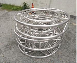 China Long Span Gray Aluminum Stage Truss Spigot Adjustable Aluminium Roof Trusses on sale