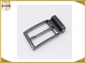 Quality Zinc Alloy Reversible Metal Belt Buckle For Business Man Die Casting Plating for sale