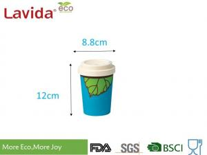 China Natural Organic Bamboo To Go Cup Takeaway Type Reusable Eco Friendly With Lid on sale