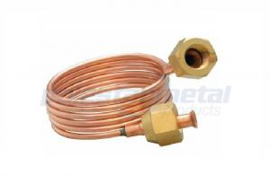 China Refrigeration Capillary Tube Fittings Straight Tap Connector Copper Tube Diameter 1/8 on sale