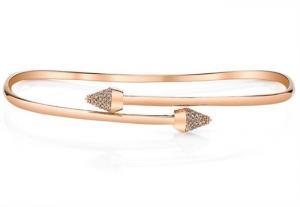 China Stylish 925 Silver Tennis Crystal Bangle Charm Bracelet Jewelry For Women on sale