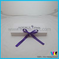Mini Paper Hair Extensions Packaging Box Purple Ribbon for Packing Hair