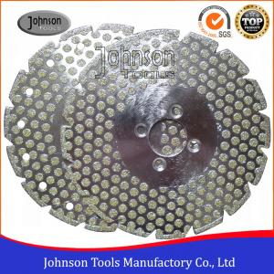China Double Side Dots Electroplated Diamond Tools For Marble / Granite Cutting on sale