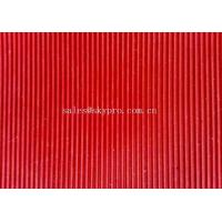 Colorful thin rubber mat , Narrow Corrugated Rubber Floor Mat For Workshop