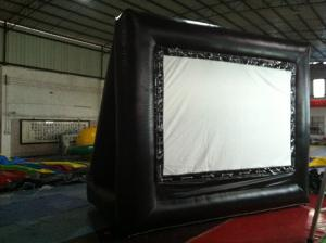 China Rent Black Outdoor PVC Inflatable Outdoor Movie Screen For Advertising on sale