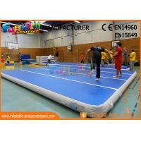 0.9mm PVC Tarpaulin Jumping Inflatable Gym Airtrick Mat / Blow Up Tumbling Mat