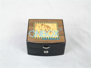 China Handmade Decorative Wooden Watch Boxes / Cosmetic Packaging Case for Women on sale