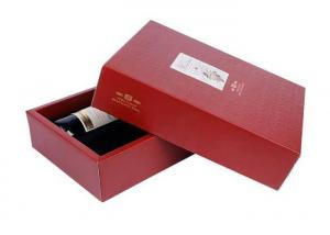 China Hot Embossing Red / White Cardboard Gift Boxes With Handles Nontoxic UV Printing on sale