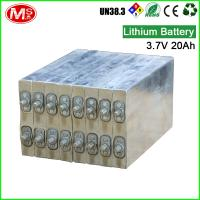 China Dry Recharge Prismatic Cells Lithium Ion Battery For Golf Trolley 3.7V 20Ah on sale