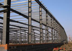 China Light Steel Frame Building , Grey Steel Frame Workshop Up To 50 Years Lifetime on sale