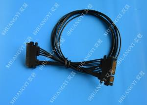 China 22 Pin Male to Female Hard Drive SATA Power Cable Black Slimline 20 Inch on sale