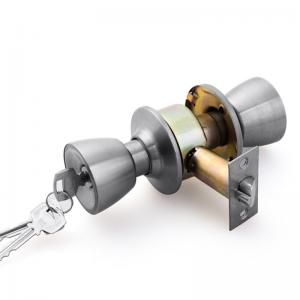 China Stainless Steel SS 201 Material Spherical Lock / Lock Knob For Bathroom Security on sale