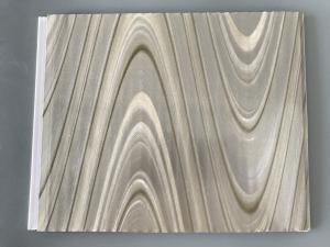 China Study Ceiling Laminated Plywood Wall Panels , Wood Grain Laminate Sheets Wave Design on sale