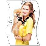 Woman Personalized Photo Clock Gifts , MDF Personalized Photo Frame Clock