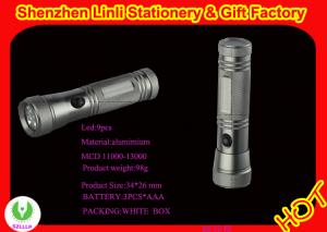 China cheap  aluminium 9 led best flashlight mini torch light with AAA battery  on sale
