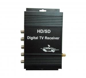 China DVB-T MPEG-4 HD VHF-H Digital TV Receiver Box / Digital Television Receiver With Active Integrated Antenna on sale