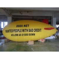 inflatable air yellow blimp with red wings for sale