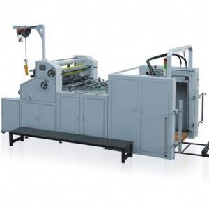 China Automatic Water - Soluble Roll Laminator Machine With Collecting Rewinder on sale