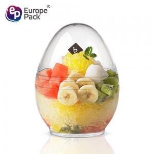 China New 2019 trending product 160ml disposable plastic egg shape container on sale