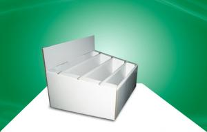 China Book  Cover POP Cardboard Countertop Displays With Dividers Recyclable OEM ODM on sale