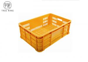 China Ventilated No Collapsible Plastic Crate , Food Grade Stacking Confectionery Tray on sale