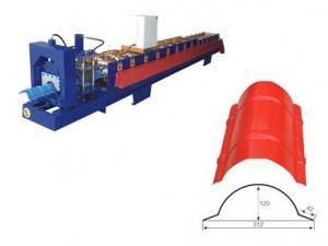 China Steel Ridge Cap Roll Forming Machine , Sheet Metal Forming Equipment on sale