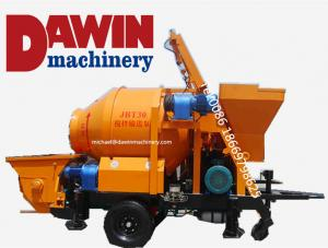 China Concrete Mixer with Pump with 450L Mixing Drum 30 cubic meter per hour Capacity on sale