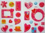 Etiqueta engomada de epoxy de la historieta que brilla para los niños