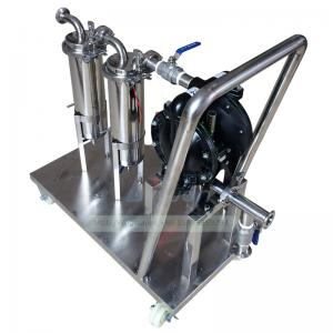 China Trolley Water Pump Set 2.0Mpa SS316 Liquid Filtration Machine on sale
