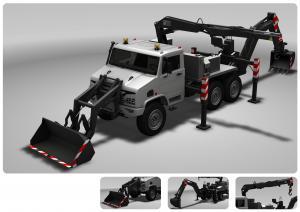 China Emergency  Excavator Machine / Excavator Vehicle Remove The Barricade With Telescopic Boom on sale