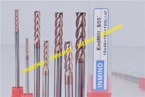 China TiAlN Coated CNC End Mill For Milling Machine End Mills , 75 mm - 150 mm Length on sale