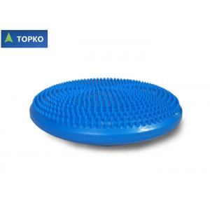 China Coussin bleu de disque d'équilibre de yoga de massage de PVC avec l'impression de logo qui respecte l'environnement on sale