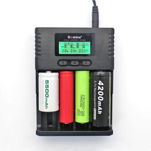 China Soshine H4 LCD Charger for Li-ion/NiMH/ LiIFePO4 battery 14500 18350 18650 26650 AA AAA C wholesale