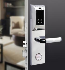 China Durable Fingerprint RFID Door Lock , Rfid Reader Door Lock 120 User Capacity on sale