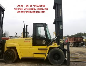 China 16000kg USA Hyster Used Industrial Forklift 12.00 R20 / 11.0-20 Tyre Size on sale