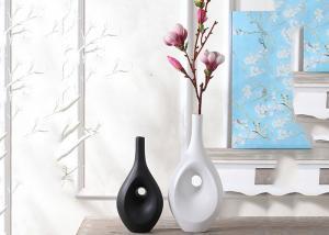 China Hotel / House Polyresin Decoration Crafts , Desk Ornament Polished Vases on sale