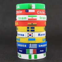 China Countries Flag Design RFID Silicone Bracelets With Silk - Screen Printing on sale