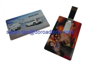 China Business Card USB Flash Drive Made by ABS, Colorful Printing on sale