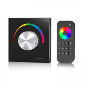 China Waterproof Rgb Led Controller , Rotary Knob Rgb Strip Light Controller With Remote on sale