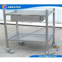Removable Stainless Steel Instrument Medical Trolley with One Drawer , Two shelves