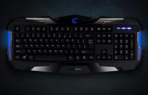 China Anti - ghosting Gaming mechanical keyboard blue backlit for desktop and computer on sale