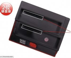 """Quality USB2.0&e-SATA to 2.5 3.5""""SATA x2 double slots multi-function HDD docking station for sale"""